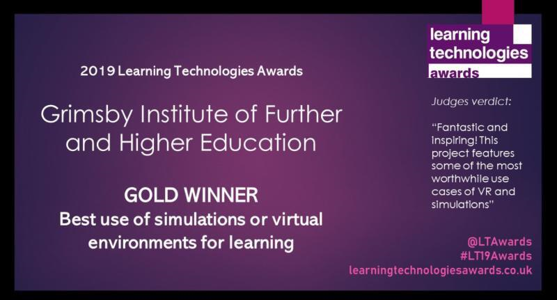 Awarded gold for best use of simulations or virtual environments for learning